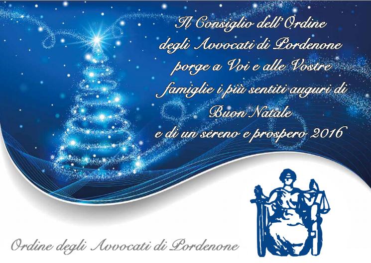 Auguri Di Buon Natale Ufficio.Auguri Di Buone Feste Ordine Avvocati Pordenone